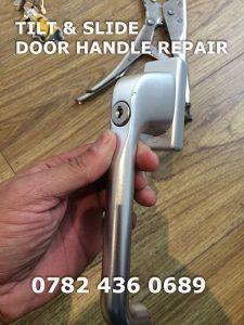 handle for tilt and slide door