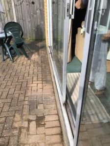 Garden patio sliding door