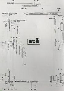 siegenia tilt and slide balcony door parts