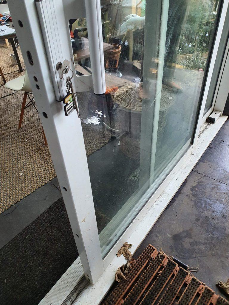 Unlocked Wooden Lift and Slide Door