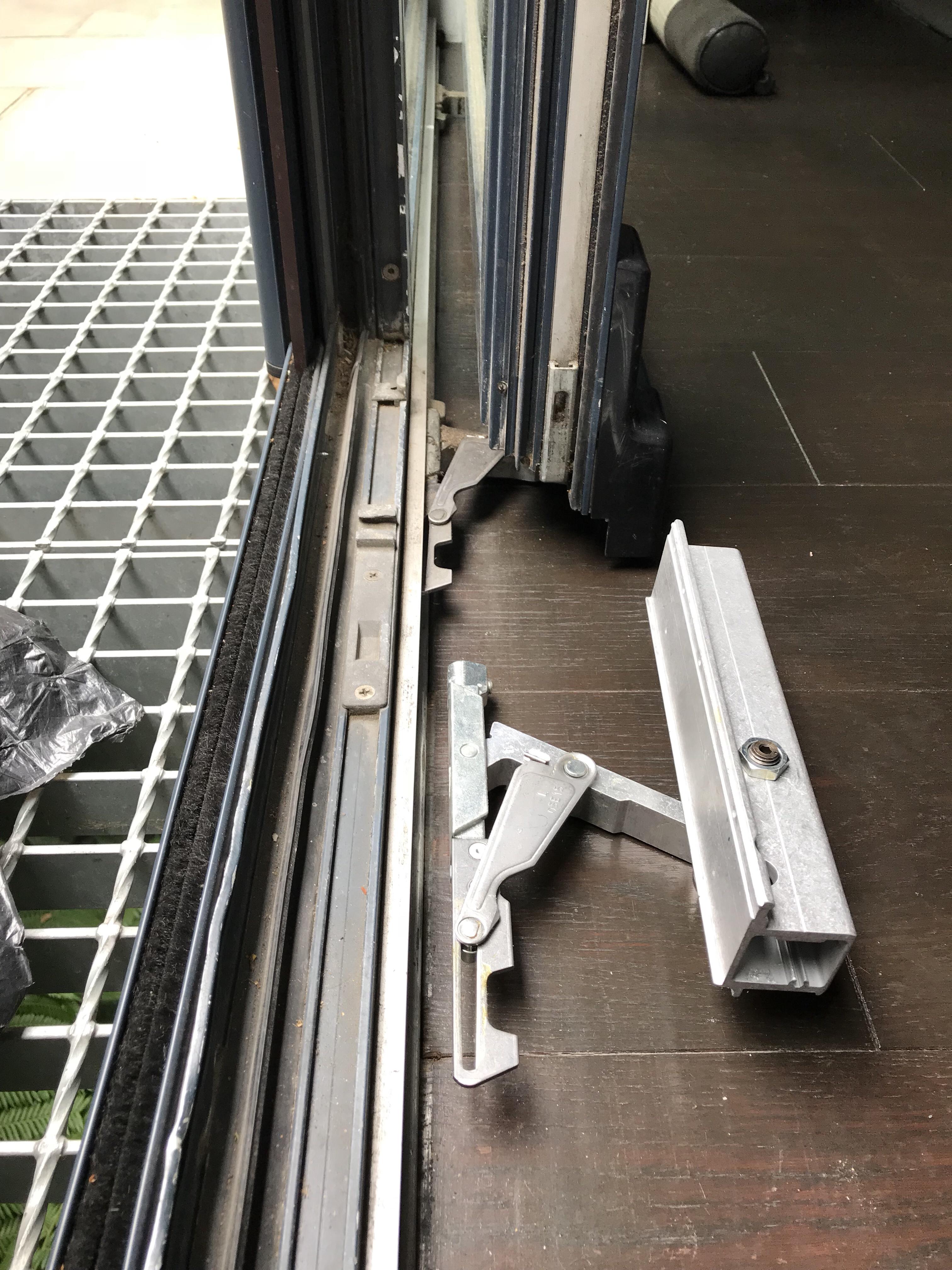 Hautau tilt and slide door parts repair